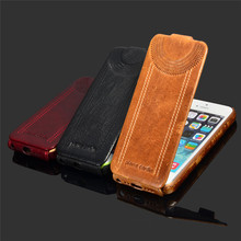 Deluxe Retro Flip Genuine Leather Case For iPhone 5 5S Luxury Phone Back Cover Cases With Fashion Logo Vintage Black Brown Red