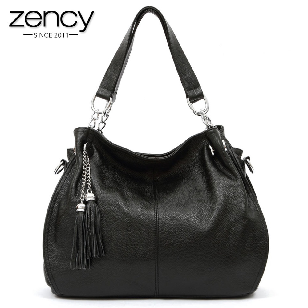 2016 NEW 100% Designer Handbags Soft Real Genuine Leather Women Ladies Bags Satchel Purse Tote Shoulder Tassels - Zency Products Company Limited store
