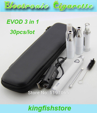 30pcs evod Dry herb vaporizer pen herbal cigarette evod electronic ecigarette 3 in 1 ego kit with Ago Mt3 Ego-d wax atomizers(China (Mainland))