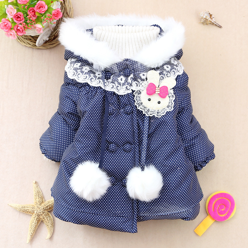 Гаджет  Retail !2014 new brand girls Princess thick winter coats kids padded streetwear hooded Outerwear warm girls Thick dot Jacket z20 None Детские товары