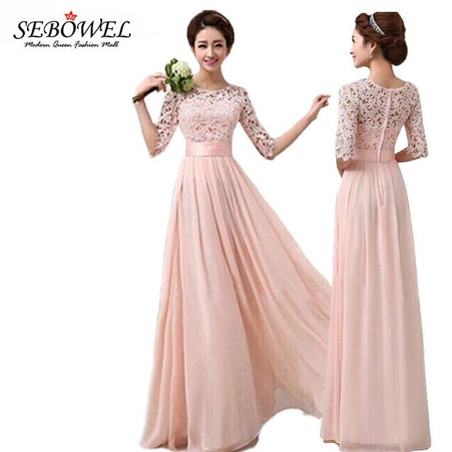 Mands Dresses For A Wedding : Pluz size autumn winter women long chiffon dress half