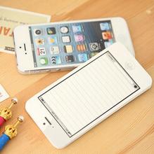 Белый мода липкую пост это к сведению документ сотовый телефон в форме блокнот блокноты бумаги блокнот для Iphone 5