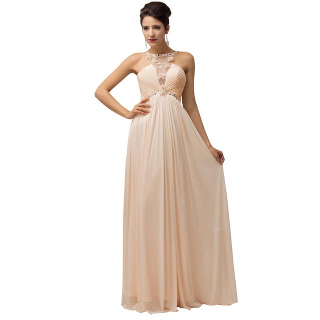 Грейс карин со 2016 новые сексуальные женщины шеи плиссированные вечернее платье ...