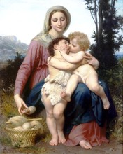 William Adolphe Bouguereau hotel western huge picture painting High quality gifts chastity silver wall art wall decor paintings(China (Mainland))