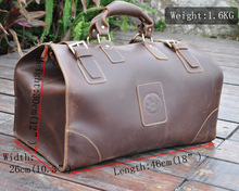High Quality! Mens Genuine Real cowhide Leather Duffle Gym Travel Luggage Suitcase Messenger Shoulder Bags 803165(China (Mainland))