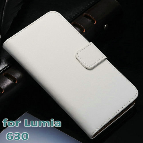 50 pcs/lot Genuine Leather Wallet Case For Nokia Lumia 630 with Stand Flip Book Style with Card Holder Wholesale DHL