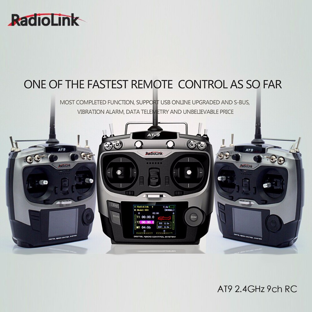 Radiolink AT9 2.4GHz 9 Channel Transmitter & Receiver RC remote controller for RC drone Hobby Free shipping