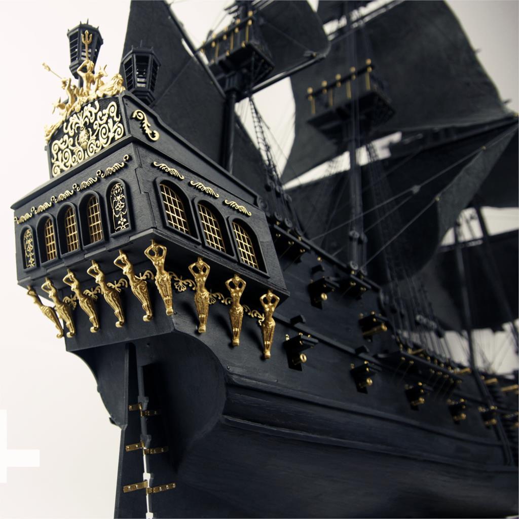 2015 Black Pearl sailing boat warship in Pirates of the Caribbean wood model building kit