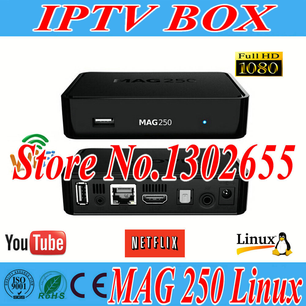 Europe New mini pc linux Mag MAG 250 Tv Box Linux Operating System Iptv Set Top Box HD satellite receiver(China (Mainland))