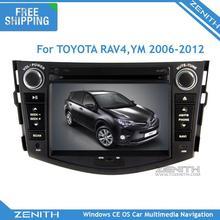 Free shipping 7'' radio 2006-2012 Toyota rav4 gps navigation dvd player with Bluetooth Radio USB SD Free map Rear camera parking(Hong Kong)