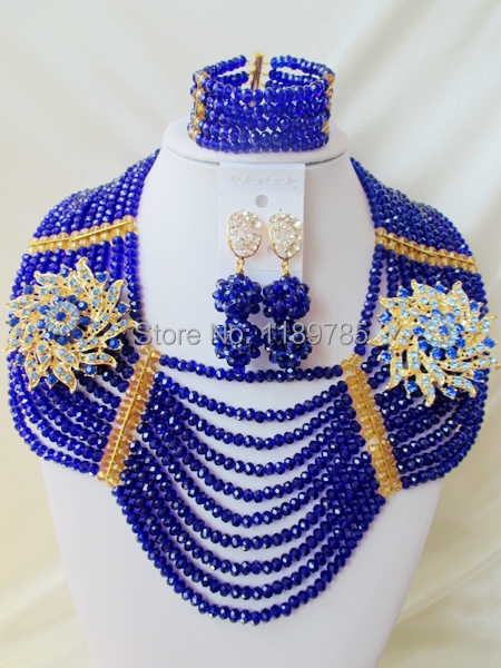 Big promotion Free Shipping African Wedding Jewelry Set Costume Nigerian  Crystal Beads Jewelry Set Wholesale NEW A-10161<br><br>Aliexpress
