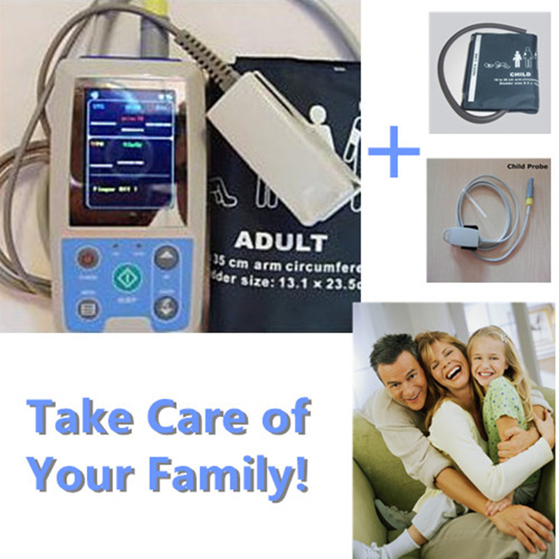 *For Adult&Child * Contec PM50 24 hour Automatic Ambulatory NIBP, Blood Oxygen Saturation, Pulse Rate Patient Monitor
