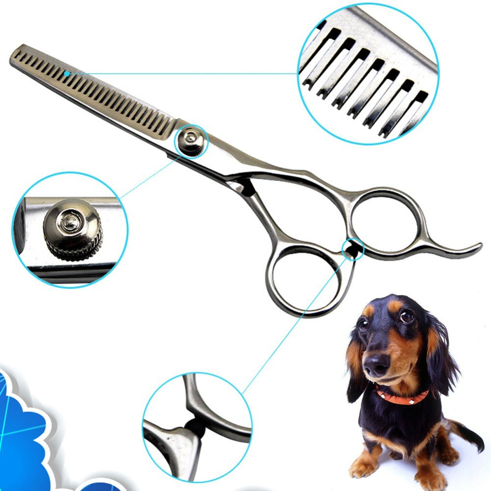 New 6inch Pet Dog Cat Professional stainless steel Grooming Hair Thinning Scissors Shears Silver Pet Free