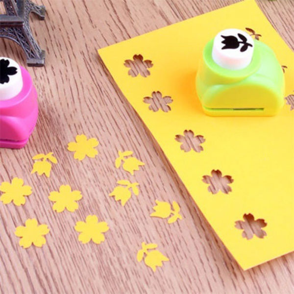 DIY Paper Printing Card Cutter Scrapbook Shaper large Embossing device Hole Punch Kids Handmade Craft (Random Color)