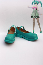 Custom made Green miku Shoes from vocaloid Cosplay