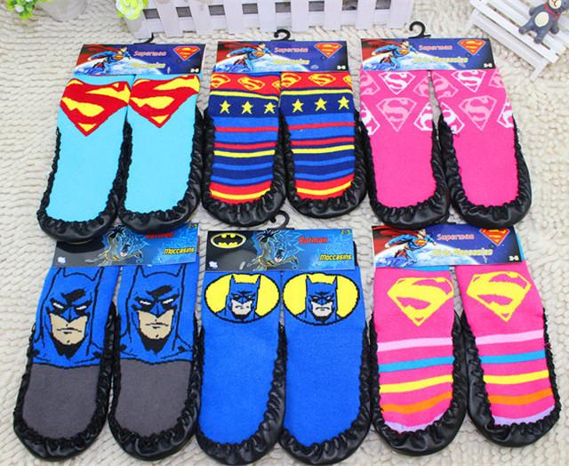Марка прохладный 6 шаблон мультфильм детский супермен нечеткие от скольжения тапочки ...
