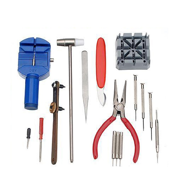 Lowest Price 16pc Deluxe Adjust Watch Back Case Spring Bar Remover Opener Tool Kit Repair Fix Pin Link Remover Set Watchmaker(China (Mainland))