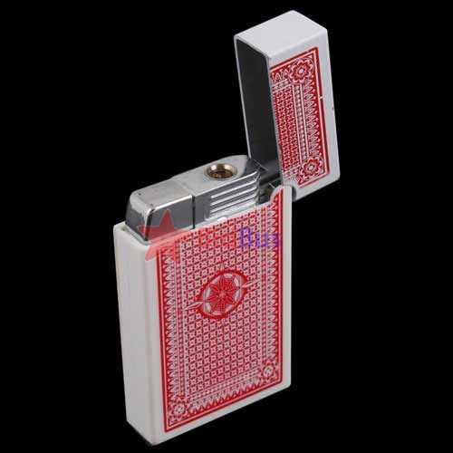 Bidbus Fast Portable Poker Card Shape Electric Shock Lighter Gift(China (Mainland))
