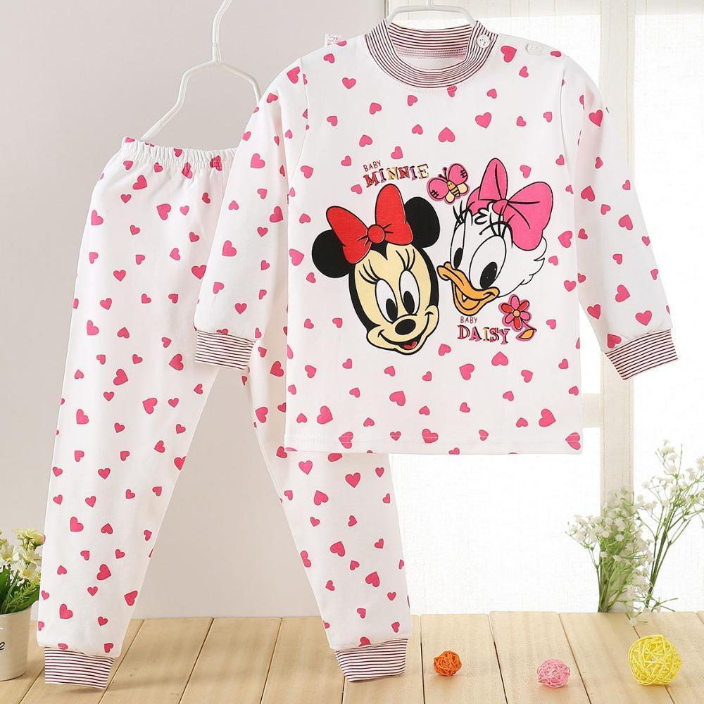Cartoon Print Baby Pajamas Sets Kids Clothing Sets ...