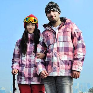 hommes nouveaux& femmes amoureux étanche ski snow jacket veste d'embarquement windstopper(China (Mainland))