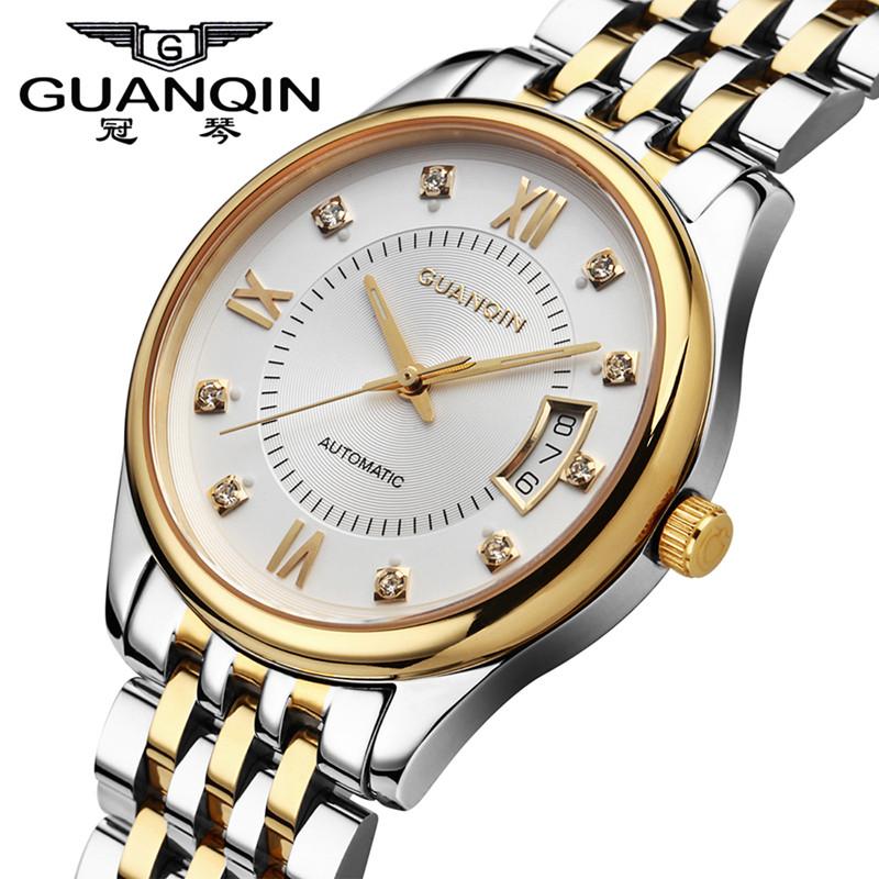 Фотография Famous Brand Watches GUANQIN Mechanical Men Watch Fashion Business Watch Sapphire Sport Casual Waterproof Wristwatches for Men