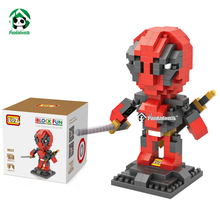 Deadpool LOZ Blocks 280pcs Model Building Diamond Blocks Set Action Figure Brick Toys Educational Toys