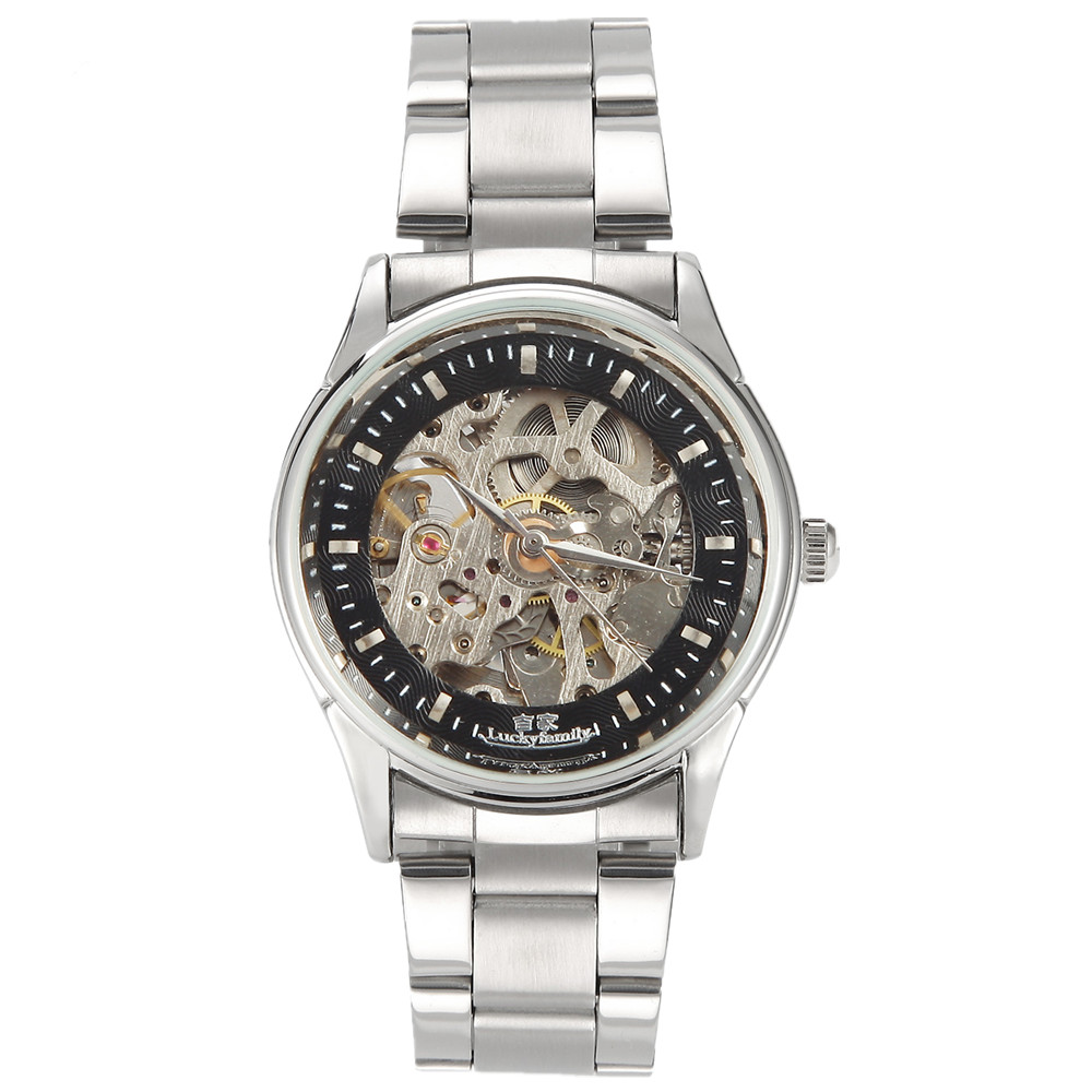 popular lucky brand mens watches buy cheap lucky brand mens luxury brand automatic watch men s mechanical watch classic transparent skeleton mechanical watches military relogio masculino