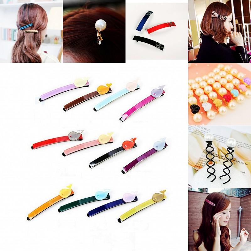 2pcs/lot 2015 hot sale candy color women hairband fashion lady cute whale hair clip hair accessories elegant pearl headband(China (Mainland))