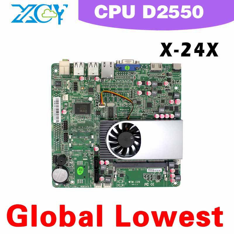 Intel atom D2500 mini motherboard micro mainboard XCY x-24x main board 1*HDMI support HD movies(China (Mainland))