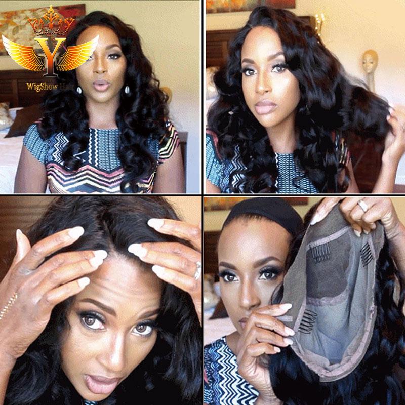 7A Full Lace Human Hair Wigs Brazilian Body Wave Lace Front Wigs Brazilian Hair Wigs Natural Color Full Lace Wig For Black Women<br><br>Aliexpress