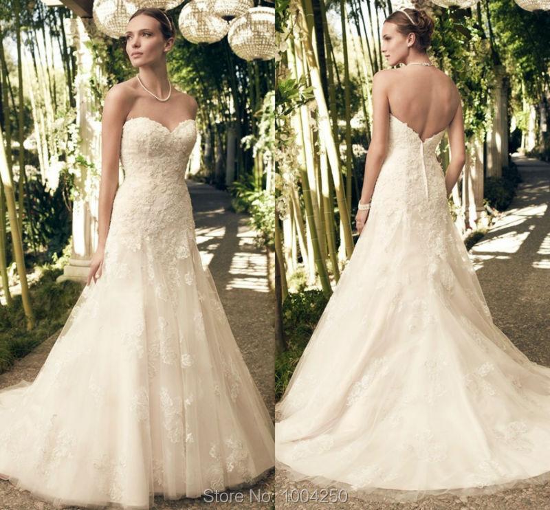 Casablanca wedding dress 2015 sweetheart off shoulder lace for Casablanca wedding dresses 2015