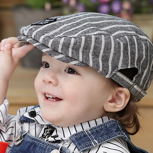 Free shipping baby hat child hat  child beret cap baby baseball cap detective cap spring and autumn cotton hat