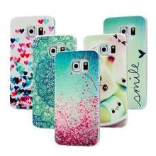 ( Не для S6 ) мода ручная роспись уникальный цветной рисунок ультра тонкий мягкий тпу телефон задняя крышка чехол для Samsung Galaxy S6 край G9250