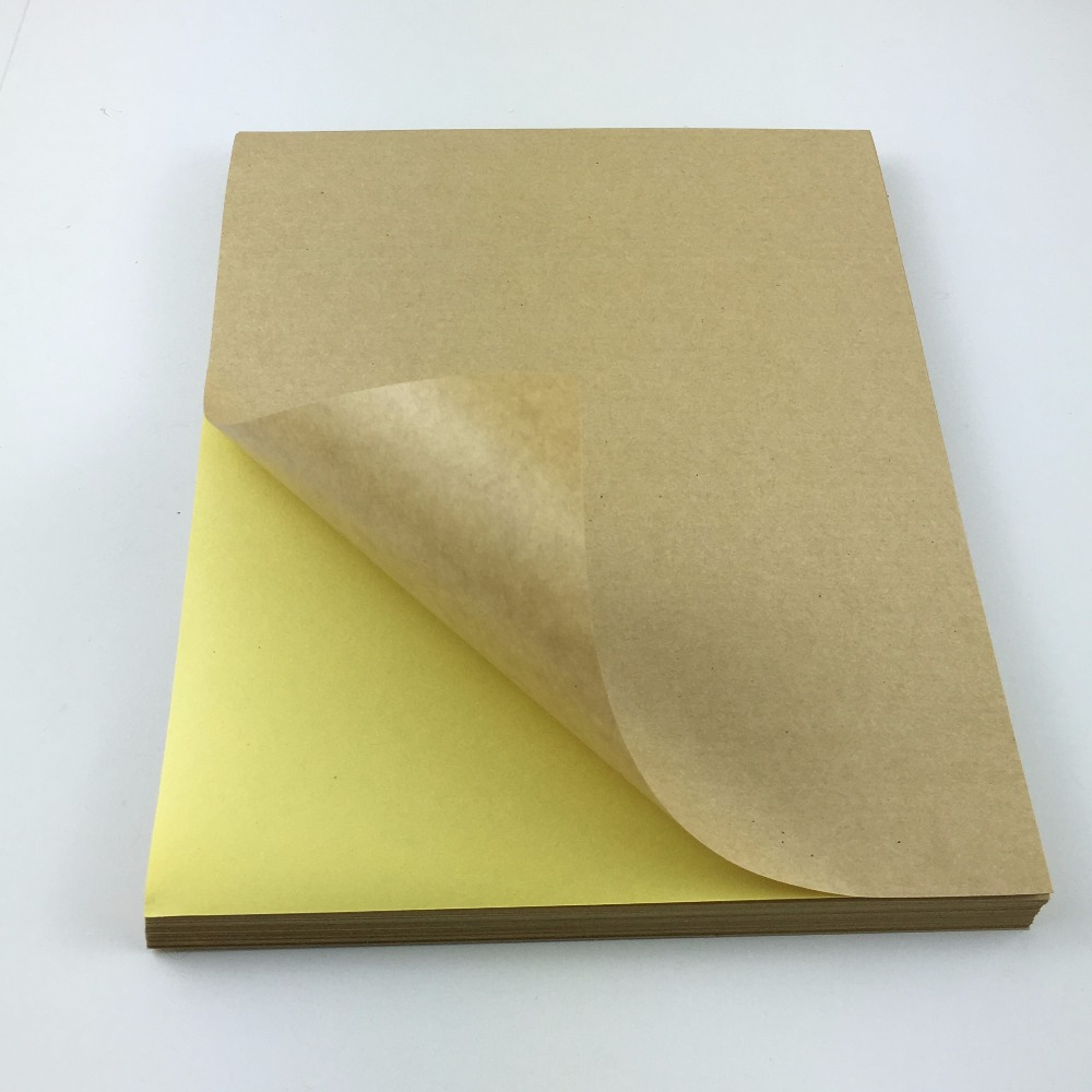 online get cheap handmade paper goods com alibaba group 100pc lot kraft paper a4 paper sticker labels blank self adhesive label handmade custom