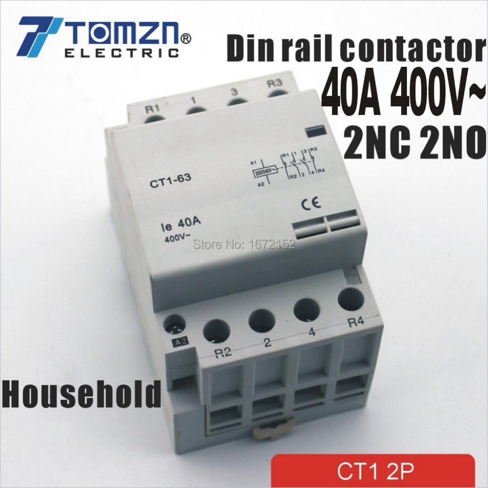 Замыкатель LYN CT1 4P 40 2NC 2NO 220V 400 50/60 ac CT1-40-4P