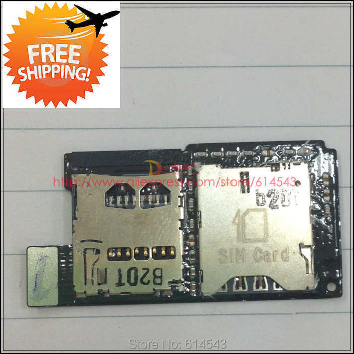 Original SIM Card & SD Card tray slot Reader Contact For HTC One SV C525e C525c T528t Memory Holder Flex Cable Ribbon ,1pcs(China (Mainland))