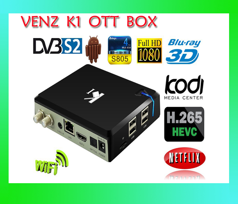 K1 S2 TV BOX DVB-S2 Android 4.4 Quad Core Amlogic S805 1GB Ram 8GB Rom Satellite TV Receiver KODI WIFI Bluetooth Free Shipping(China (Mainland))