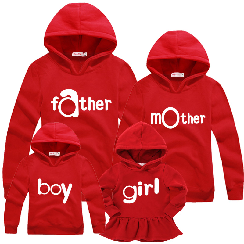 Family matching outfits autumn hoodies family  fashion sports clothing<br><br>Aliexpress
