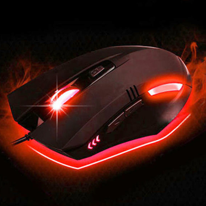 2015 New Hot sale Adjustable 3200DPI LED Wired Gaming Mouse 6D Key Elegant and ergonom