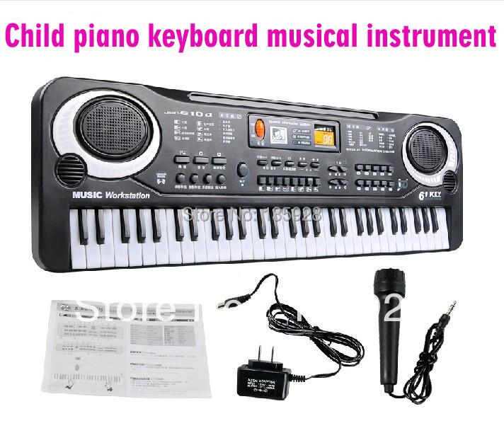 New 2015 Electronic Educational toys Piano 61 Key Child Electronic organ Kids piano keyboard Baby musical instrument toys(China (Mainland))