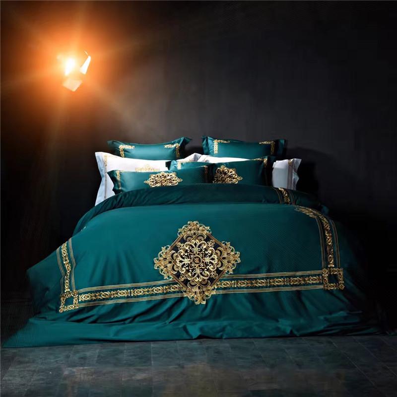 Achetez en gros vert housse de couette roi en ligne des grossistes vert hou - Literie de luxe hotel ...