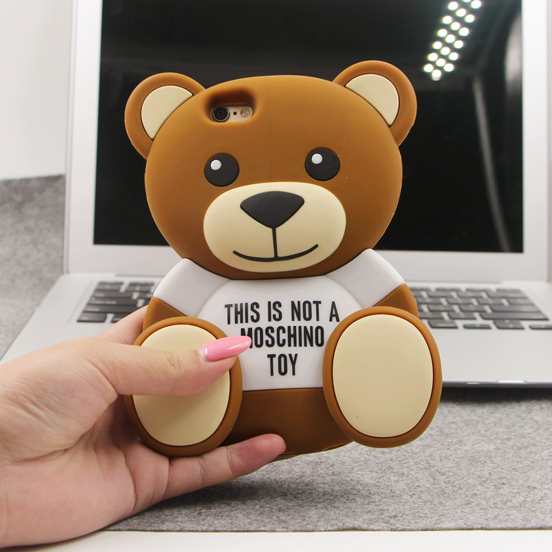 2015Soft silicone cute rilakkuma phone case cartoon model cover for iPhone 6(4.7) i6Plus 5 5S 5C 4 4S for Samsung Note 3 4 cases(China (Mainland))
