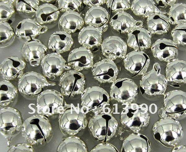 Free Shipping 300Pcs Silver Christmas Bell Charm Drops Findings 11x8mm(China (Mainland))