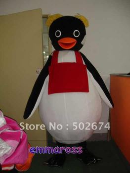 Penguin Mascot Costume Cartoon Advertising Free Shipping