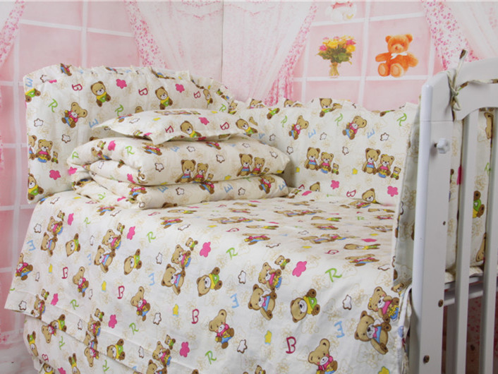Character Animal Bear Baby Bed Comforters,Newborn Baby Crib Bedding Sets,bumpers cunas para bebes,Babies Crib Accessories(China (Mainland))