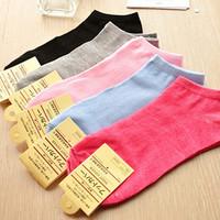 1 Lot=5 Pairs 5 Color Good Quality Brand new Summer Hot Sale Women Cute Cotton Socks Boat Socks House Socks