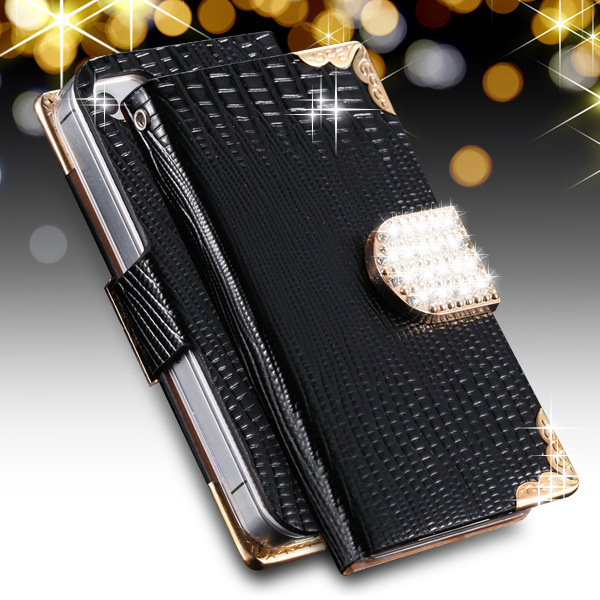 For iPhone 5S SE Glitter Diamond Cases Retro Luxury Top Quality Leather Cover For iPhone 5 5S SE 5G Flip Stand Wallet Card Slot(China (Mainland))