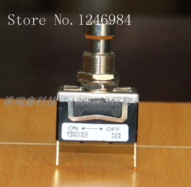 [SA]PU703-H5 with lock toggle button to switch large single toggle button press through M12 Taiwan Deli Wei--5pcs/lot<br><br>Aliexpress