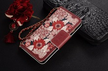 Buy luxury leather flip Wallet phone bags iphone 7 plus 5.5'' red back cover chain strap Sunflower flowers Pendant iphone 7P for $10.78 in AliExpress store