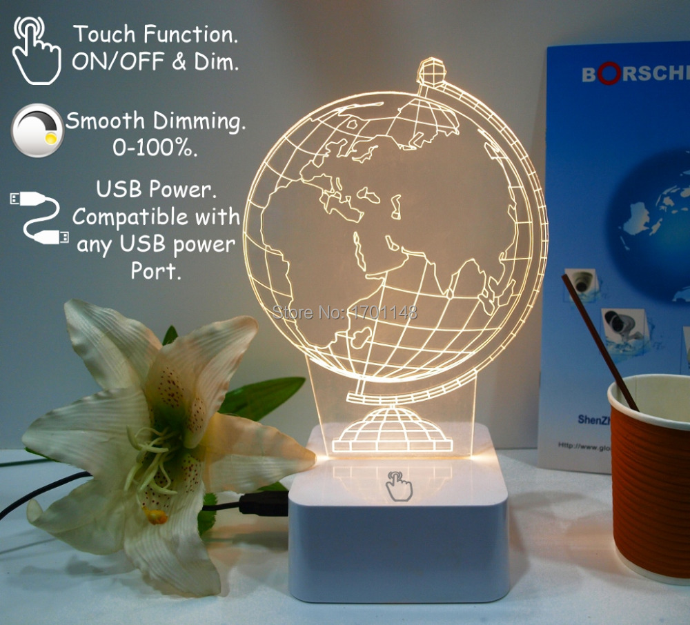 desk light for study bedroom or lobby longe and dinning beautiful globe touch on/off switch lamp by ce emc lvd certification(China (Mainland))